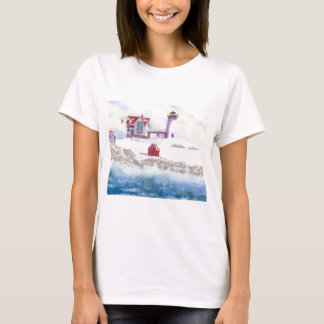 Winter at Nubble LIghthouse in Maine T-Shirt