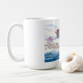 Winter at Nubble LIghthouse  Maine Mug