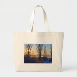 Winter At The Watering Hole Canvas Bag