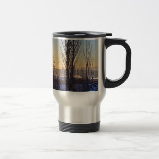 Winter At The Watering Hole Coffee Mugs