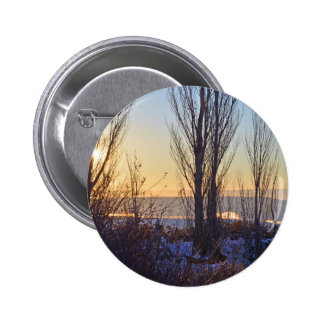 Winter At The Watering Hole Pinback Button