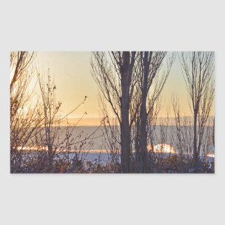 Winter At The Watering Hole Rectangular Sticker