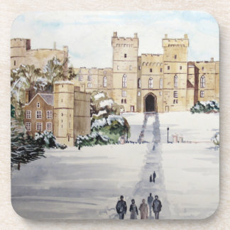 Winter at Windsor Castle by Farida Greenfield Coaster