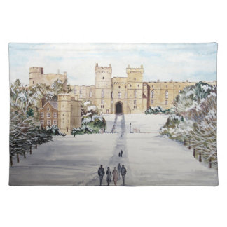 Winter at Windsor Castle by Farida Greenfield Placemat
