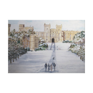 Winter at Windsor Castle Canvas Print