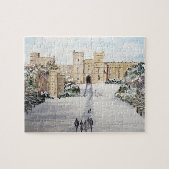 Winter at Windsor Castle Landscape Jigsaw Puzzle