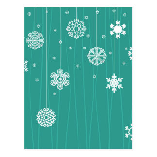 Winter background postcard