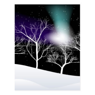 Winter Background Postcard