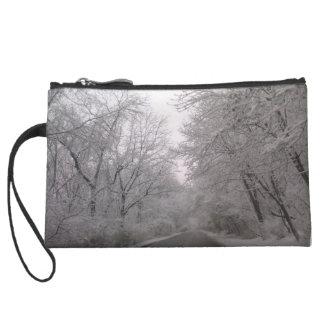 Winter bag wristlet clutches