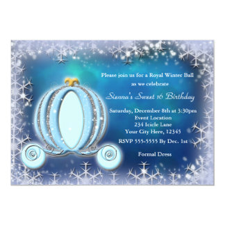 Winter Ball Cinderella Carriage Royal Invitation