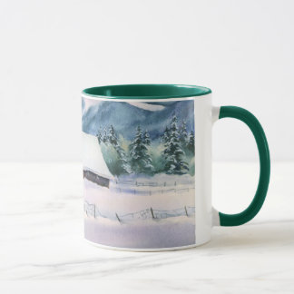 WINTER BARN by SHARON SHARPE Mug