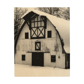 Winter Barn Wood Wall Art
