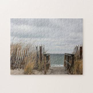 Winter beach jigsaw puzzle