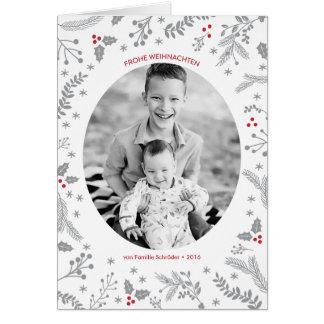 Winter-Beeren-Weihnachtsfeiertags-Gruß Card