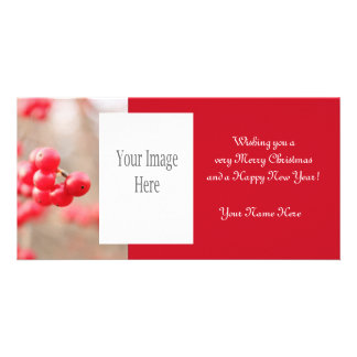 Winter Berries Christmas Photo Card