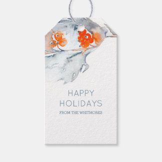 Winter Berries Happy Holidays Gift Tags