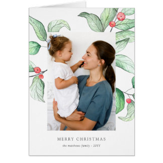 Winter Berries Holiday Photo Card