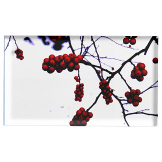 Winter Berries Place Card Holder