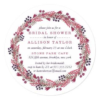Winter Berry Bridal Shower Card