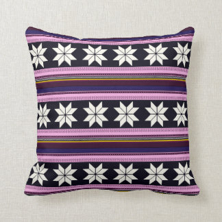 Winter Berry Nordic Knitted Cross Stitch Graphic Cushion