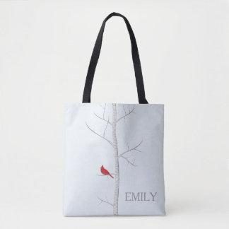 Winter Birch Tree Tote Bag