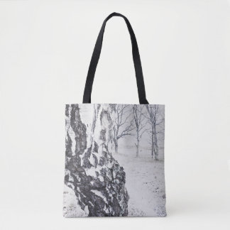 Winter Birches All-Over-Print Tote Bag