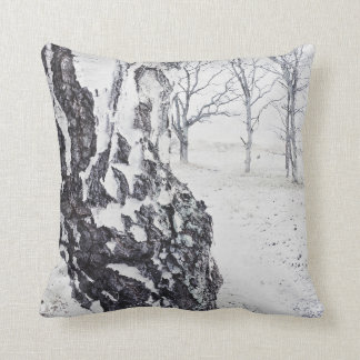 Winter Birches Cotton Throw Pillow double sided pr