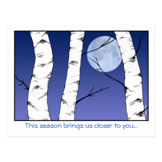 Winter Birches Solstice/Yule Postcard