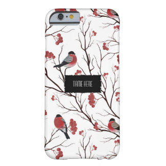 Winter Birds and Berries Barely There iPhone 6 Case