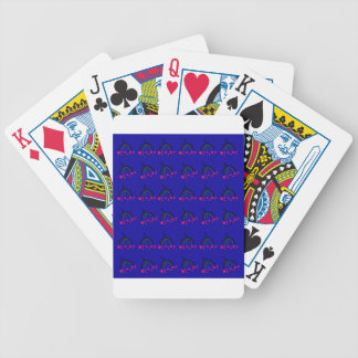 Winter Birds  Food blue Bicycle Playing Cards