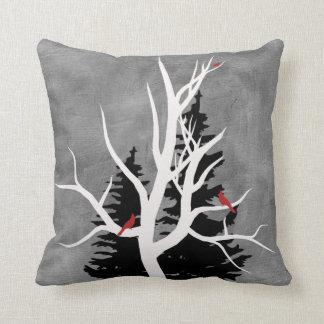 Winter Birds Silhouettes Cushions