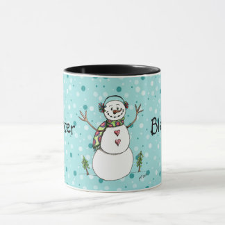 Winter Blessings Snowman Mug