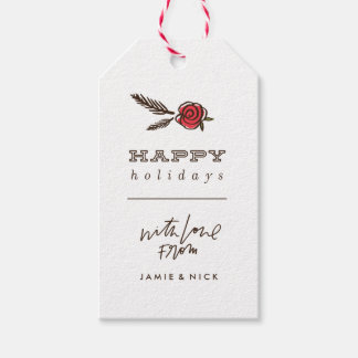 Winter Bloom Gift Tag - Green