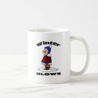 Winter Blows - Cold Weather Haters Design Coffee Mugs