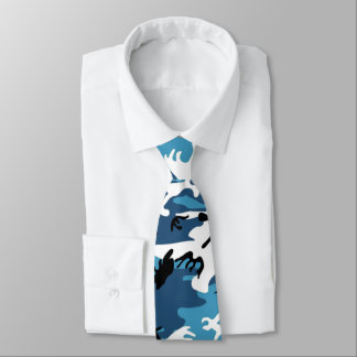 Winter Blue Camo Tie