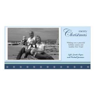 Winter Blue Christmas Photo Card