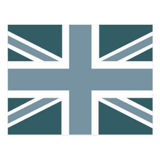 Winter Blue Classic Union Jack British(UK) Flag Postcards