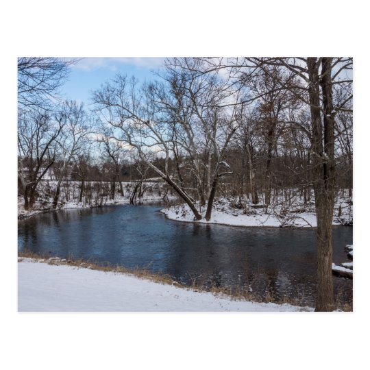 Winter Blue James River Postcard