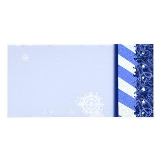 Winter Blue Customized Photo Card