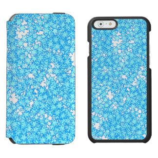 Winter Blue Stars Pastel Kawaii Incipio Watson™ iPhone 6 Wallet Case