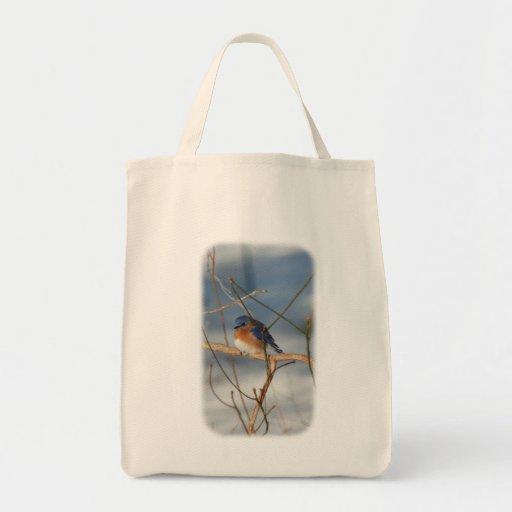 Winter Bluebird Animal Nature Tote Bag