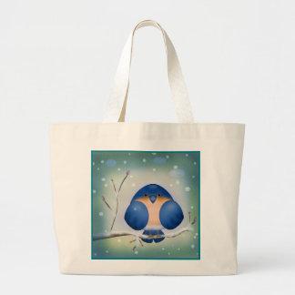 Winter Bluebird Jumbo Tote Bag