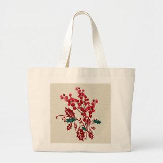 Winter Bouquet Large Tote Bag