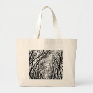 Winter branches jumbo tote bag