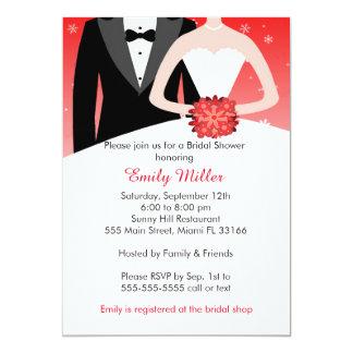 Winter Bridal Shower Invitation Bride Groom