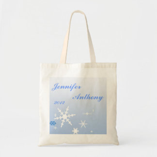 Winter Bride and Groom Canvas Bags