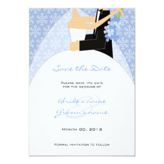 Winter Bride and Groom Save the Date cards
