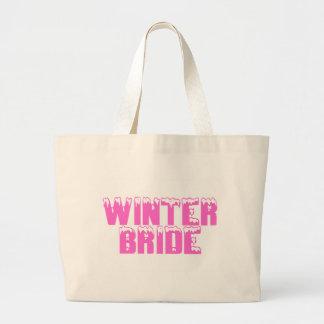Winter Bride Canvas Bags