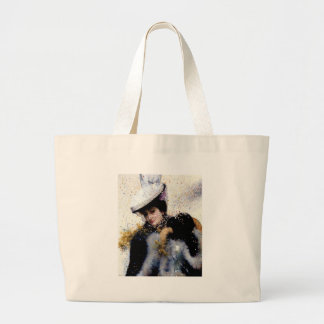 Winter bride wedding confetti painting tote bag