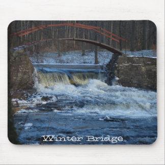 Winter Bridge Mousepad